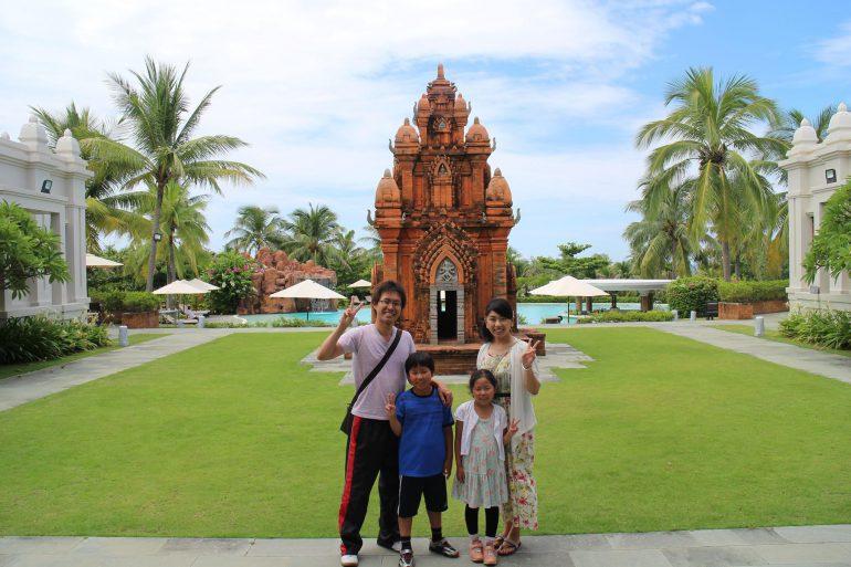 佐原さんの家族旅行
