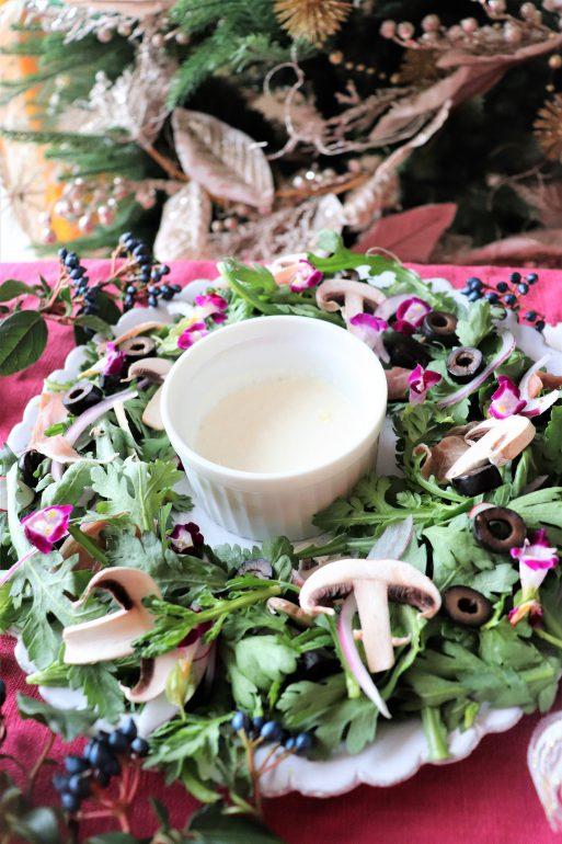 春菊のリースサラダ