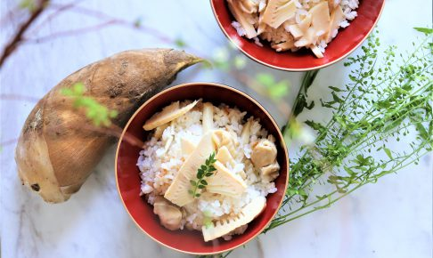 タケノコを使った簡単炊き込みご飯
