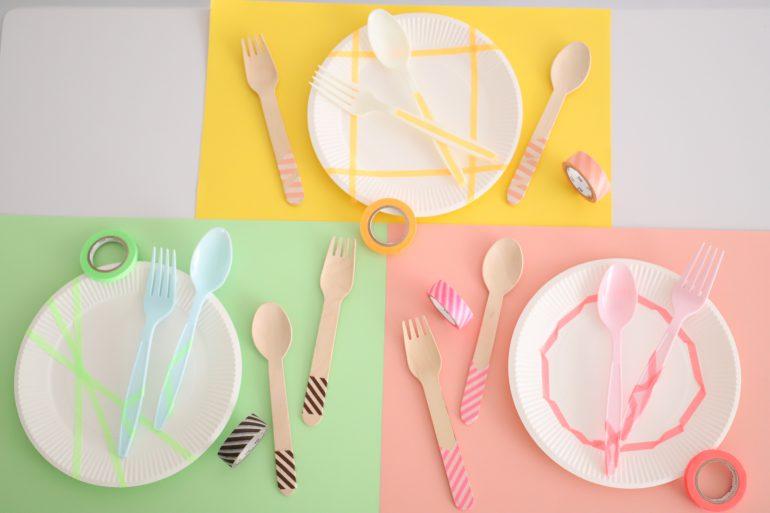 紙コップ、紙皿の例