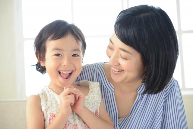 母と娘のふれあい