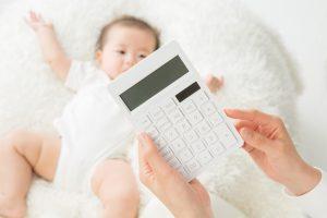 電卓と赤ちゃん