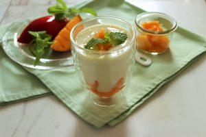 豆乳マンゴーラッシー