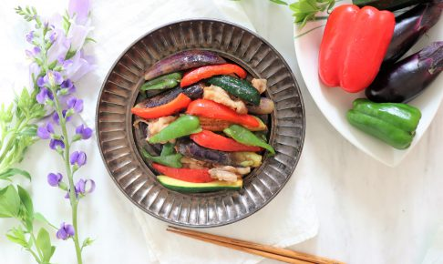 夏野菜の味噌炒め