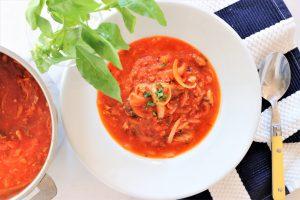 サバ缶のトマト煮込