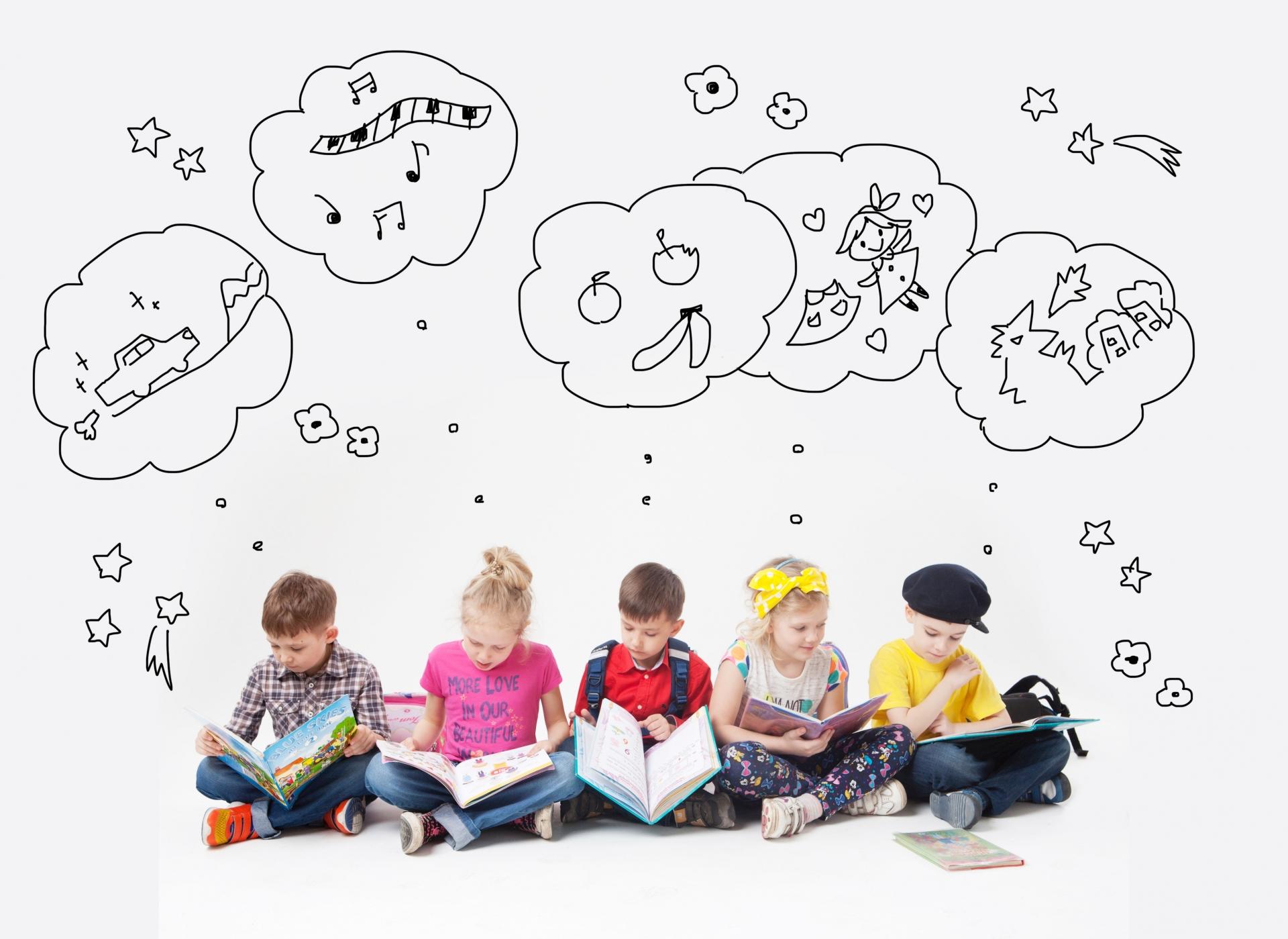 想像する子どもたち