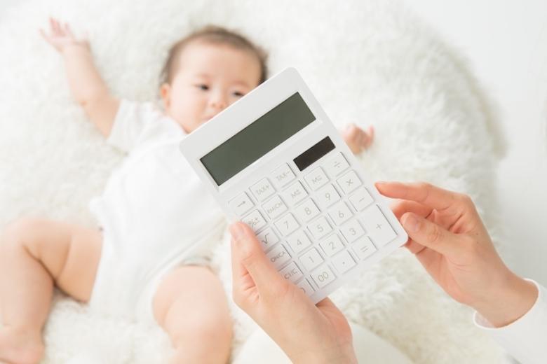 赤ちゃんと電卓