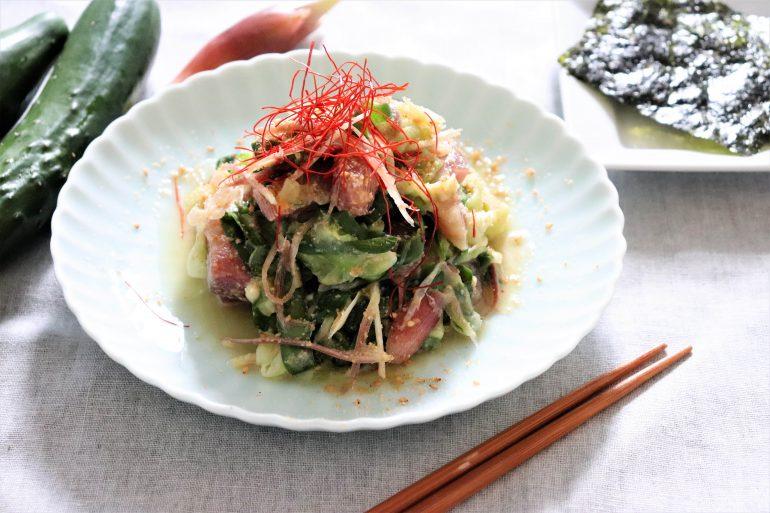 キュウリの韓国風サラダ