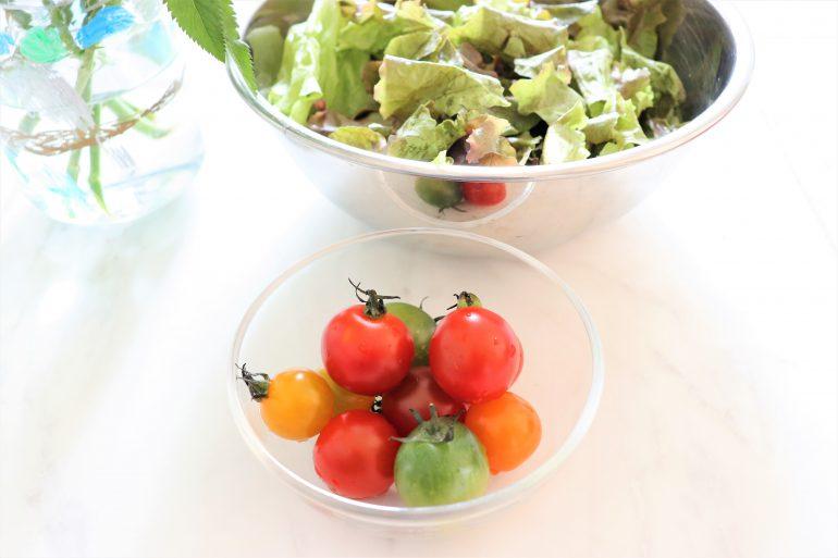 トマトとさにーレタス