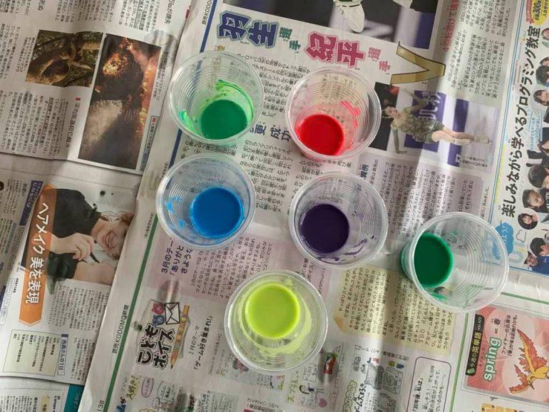 いろんな色の絵具
