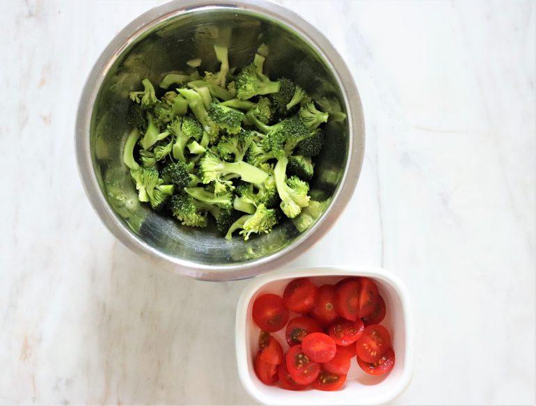 ブロッコリーとミニトマト