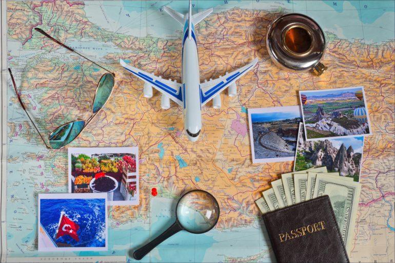 飛行機旅行の計画