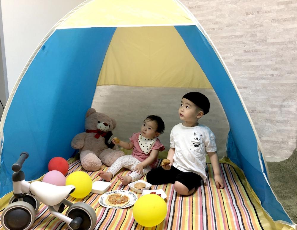 自宅テント